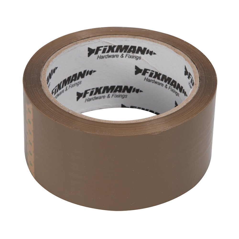 Fixman 190368 Brown Adhesive Packing Tape 48mm x 66m