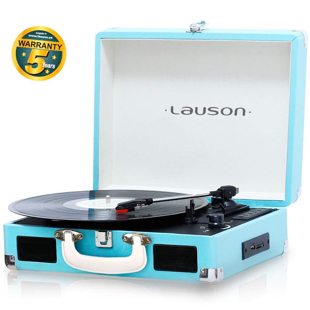 Lauson CL604 Tocadiscos Maletín, Bluetooth, USB, Salida RCA ...