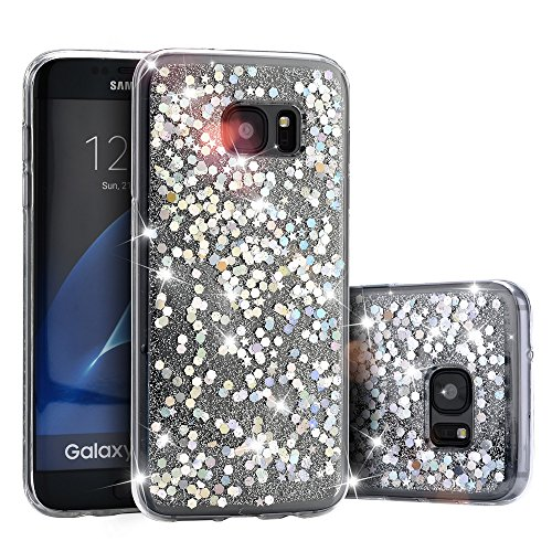 galaxy-s7-caseacoverbest-bling-transparent-shockproof-soft-tpu-stars-glitter-floating-flowing-cover-