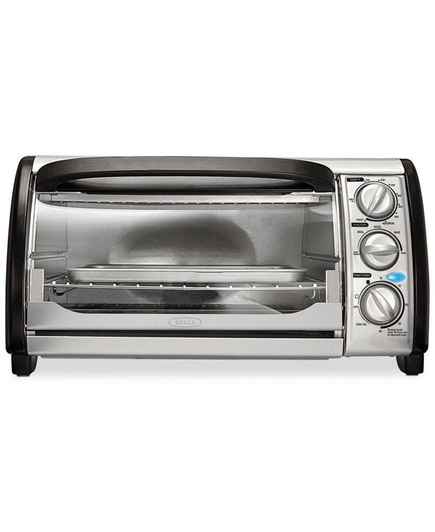 Amazon.com: Bella 14326 4-Slice Toaster Oven - Toast, Bake, Broil ...