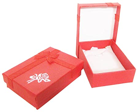 Jewellery Necklace Gift Box X 2 Red