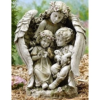 This Item Guardian Angel Garden Statues [47625]