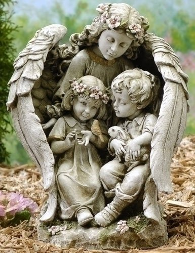 Amazing Guardian Angel Garden Statues [47625]