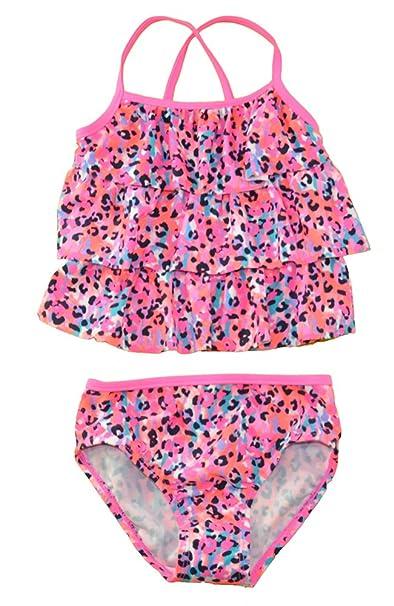 ad069c7ad48c1 Amazon.com: Osh Kosh B'gosh Little Girl's Ruffled Animal Print ...