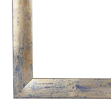Bilderrahmen Olimp 60x80 Oder 80x60 Cm In Blau Silber Blau Antireflex Kunstglas Und Rückwand 35 Mm Breite Mdf Leiste Mit Dekor Folienummantelung