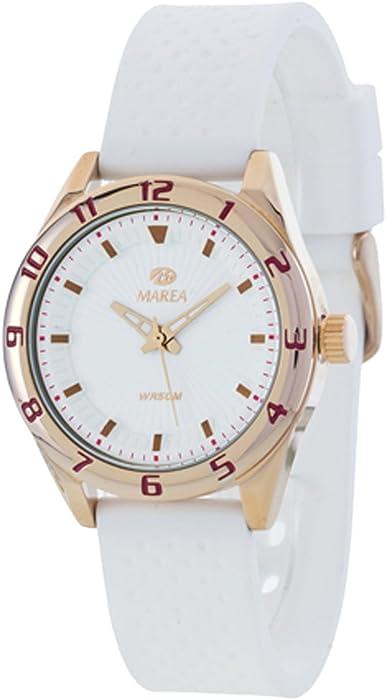 Silikonband Rosé Uhr Marea Mit B352573 Weiß Für Damen Sport NOn0vm8w