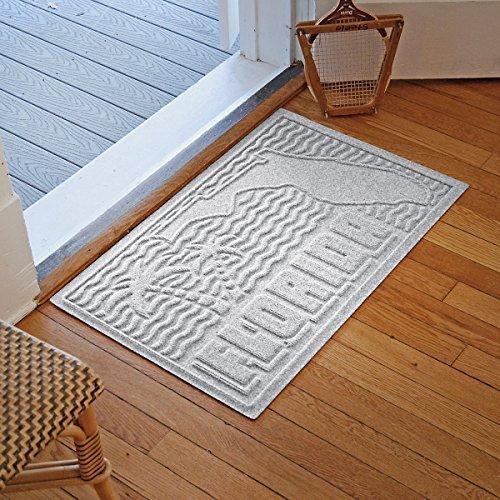 Bungalow Flooring Aqua Shield Florida Mat, White (Florida Flooring White)