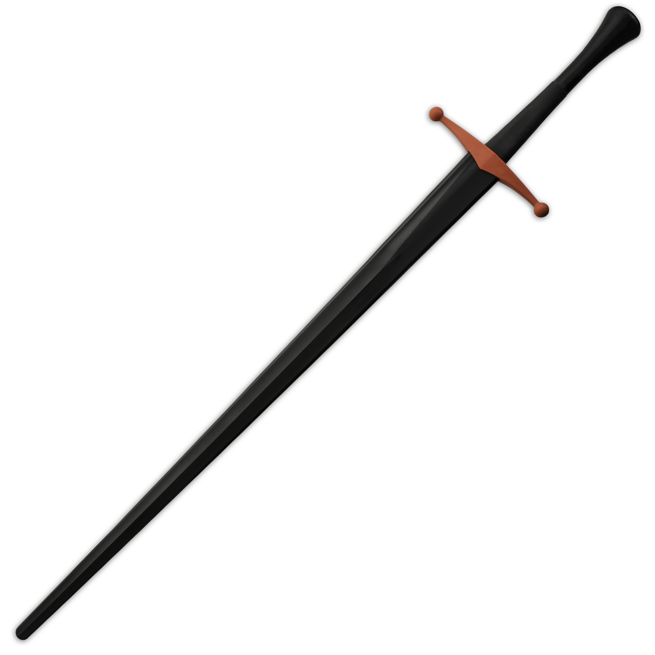 Red Dragon Armoury Synthetic Bastard Sparring Sword - Black Blade with Red Guard PR9441 Synthetic Bastard Sparring Sword - Black Blade with Red Guard