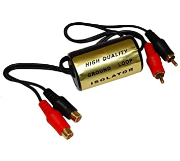 AERZETIX: Filtro de Ruido RCA para Amplificador Audio de Coche