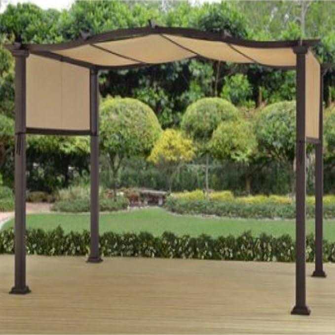 AmglobalSupplies - Carpa de metal para exteriores con diseño de pérgola para jardín, 12 x 10 cm: Amazon.es: Jardín