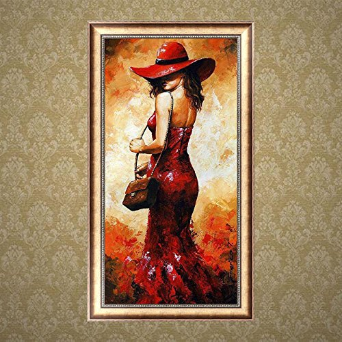 Wivily Full Drill 5D Diamond Painting Embroidery Cross Stitch Home Decor Crafts Beautiful Lady