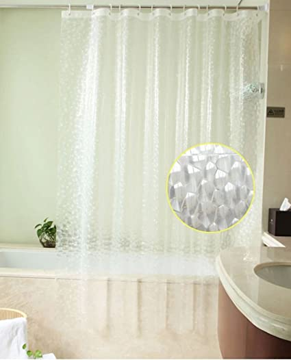 Sfoothome Heavy Duty 100 EVA 3d Effect Bath Curtain Waterproof Mildew Free Shower