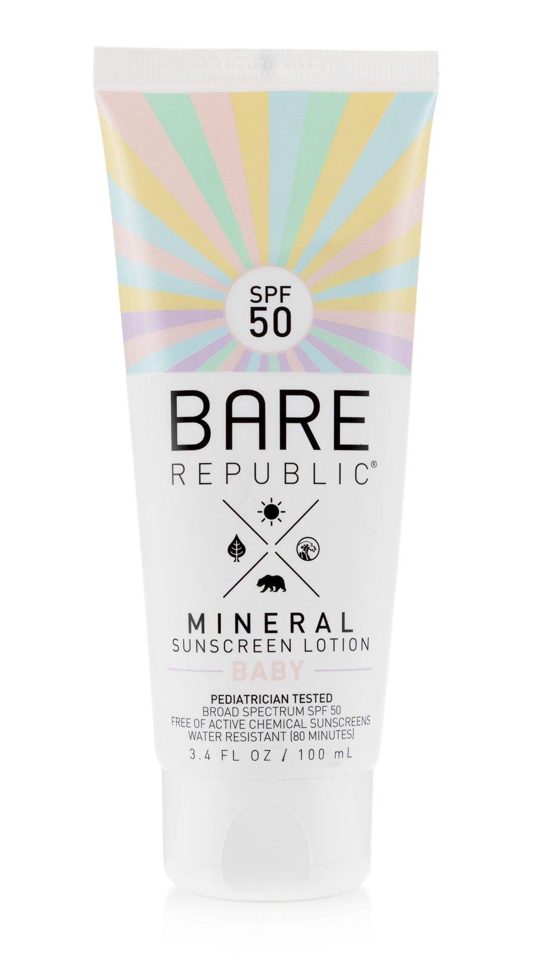 Bare Republic Mineral SPF 50 Baby Sunscreen Lotion (3.4 oz)