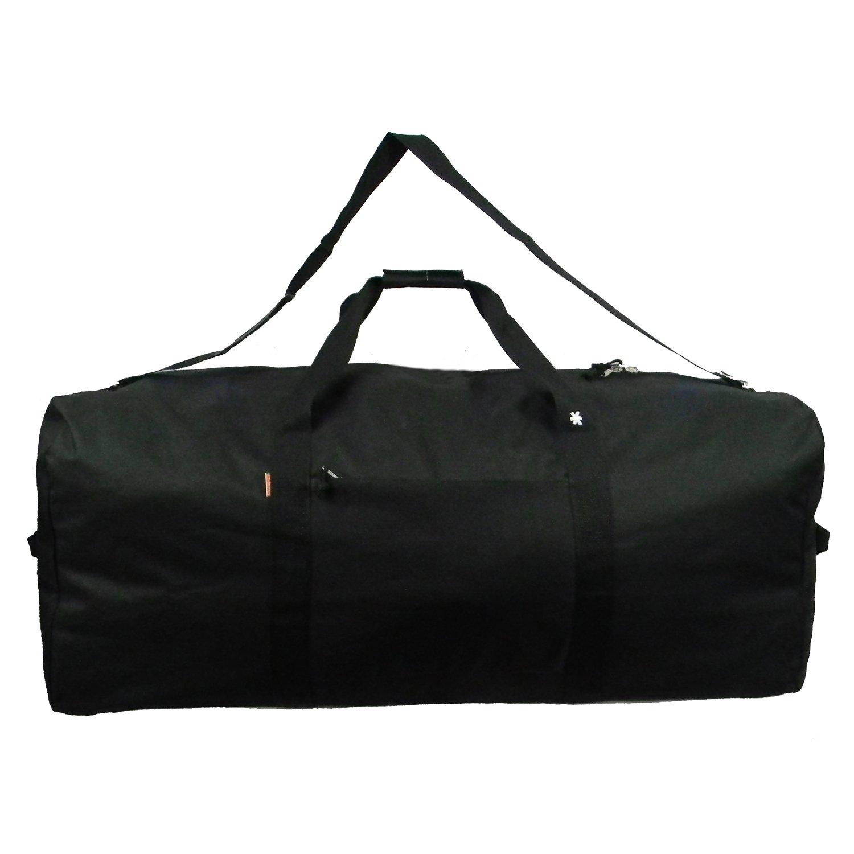 K-Cliffs Heavy Duty Cargo Duffel Large Sport Gear Drum Set Equipment Hardware Travel Bag Rooftop Rack Bag (24 Inch, Black) By Praise Start by K-Cliffs (Image #2)