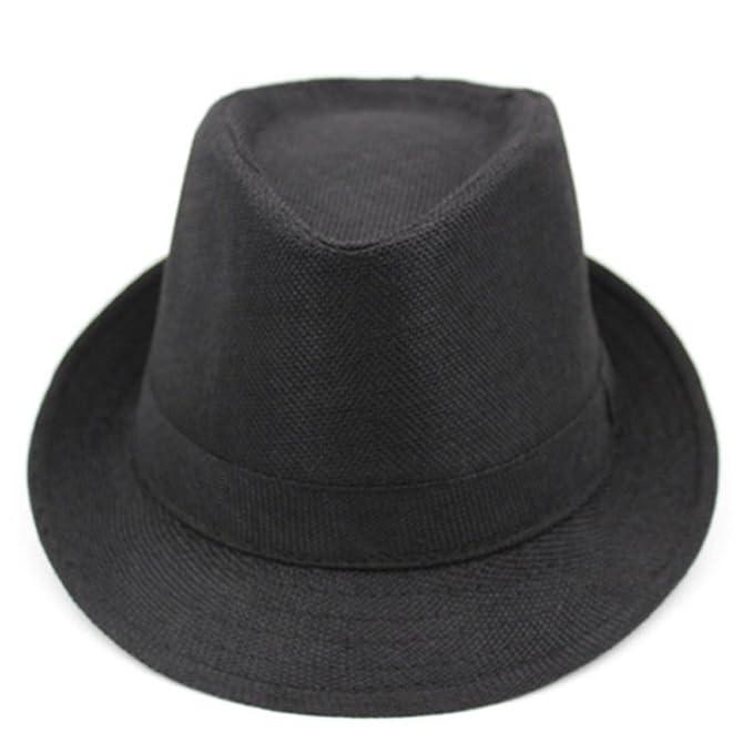 Gorros de hombres/ sombrero del verano corto de ala ancha/Gorras de visera/ sombrero de verano de lino transpirable/sombrero de caballero de mediana edad al ...