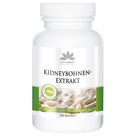 Extracto de alubias de Herbadirekt – 120 comprimidos – con cromo, café verde y alholva