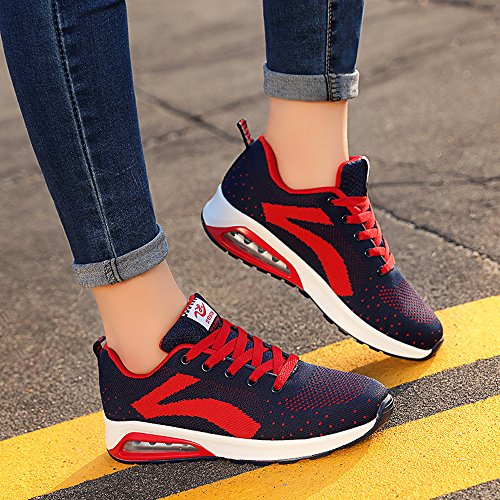 Zr629lanhong38 Enllerviid Donna Mesh Air Max Sport Scarpe Da Corsa Moda Walking Sneakers Rosso 6.5 B (m) Us