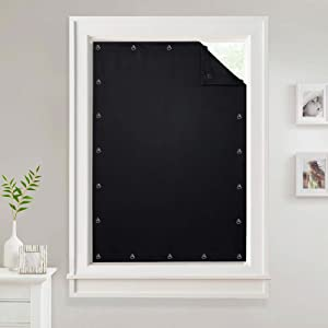 Temporary Blackout Blinds Curtain for Window - Travel Portable Adjustable Suckers Sunlight Blocking Blinds Thermal Insulated Curtains for Storage Room/Basement, Black, 51 by 78 Inch, 1 Pc