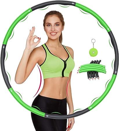 Hula Hoop Reifen 8 Segmente Abnehmbarer Hoola Hoops Fitness Sport Bauchtrainer