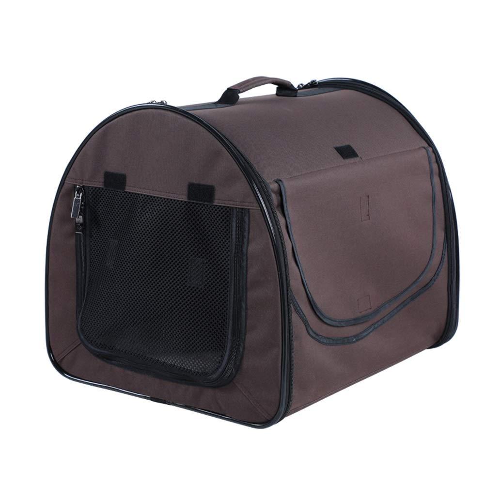 Coffee color black border Pet Backpack, Pet Carrier Backpack Dog Travel Bag Cat Carrier Outdoor Travel Handbag Bags (color   Coffee color Black Border)