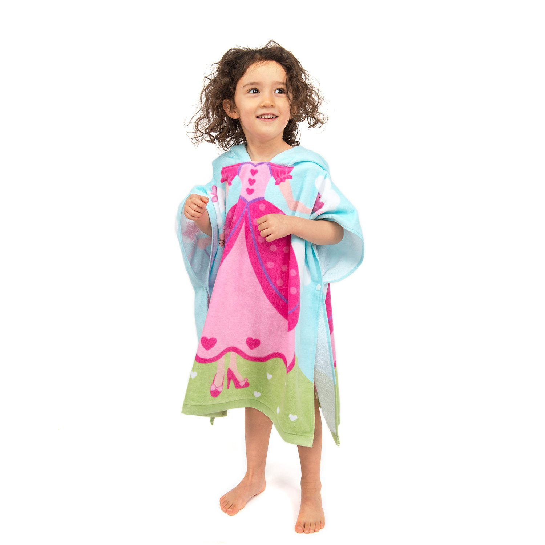 Astronaut, 60 X 60cm Florica Kid Cotton Poncho Hooded Bath Towel Wrap Bathrobe Swim Beach Wear Soft Quick Dry Cartoon for Girls Boys