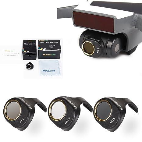 Amazon com: Drone Fans 3 Pack Camera Lens Filter MCUV CPL
