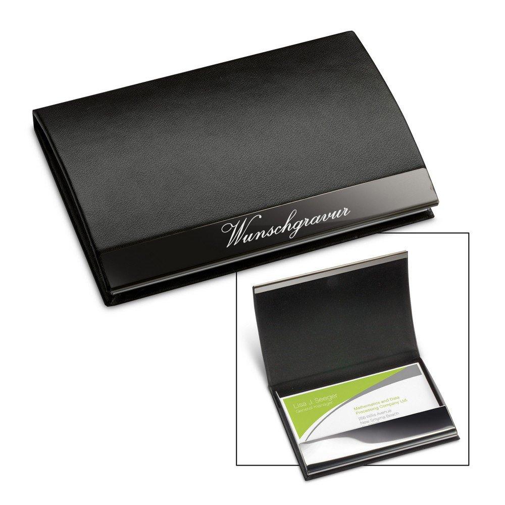 1 Schwarz Visitenkarten Etui Business Card Box Edelstahl Visitenkartenhalter L//P