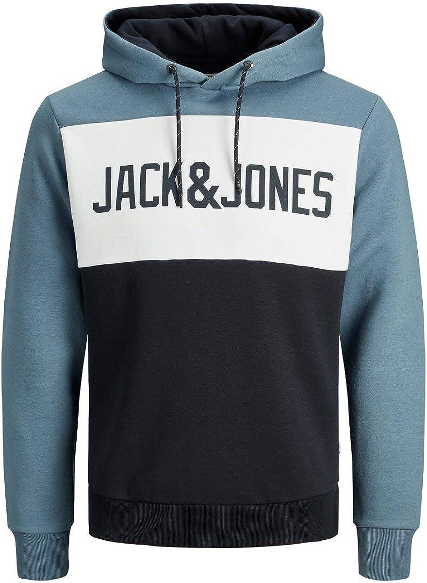 Jack & Jones Jjelogo Blocking Sweat Hood STS Sudadera con Capucha para Hombre