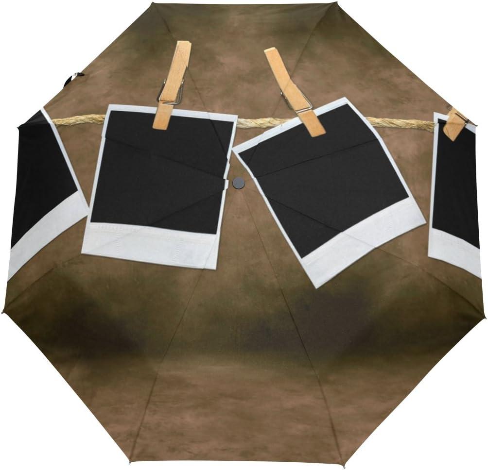 GIOVANIOR Empty Blank Film Frames Hanging Umbrella Double Sided Canopy Auto Open Close Foldable Travel Rain Umbrellas