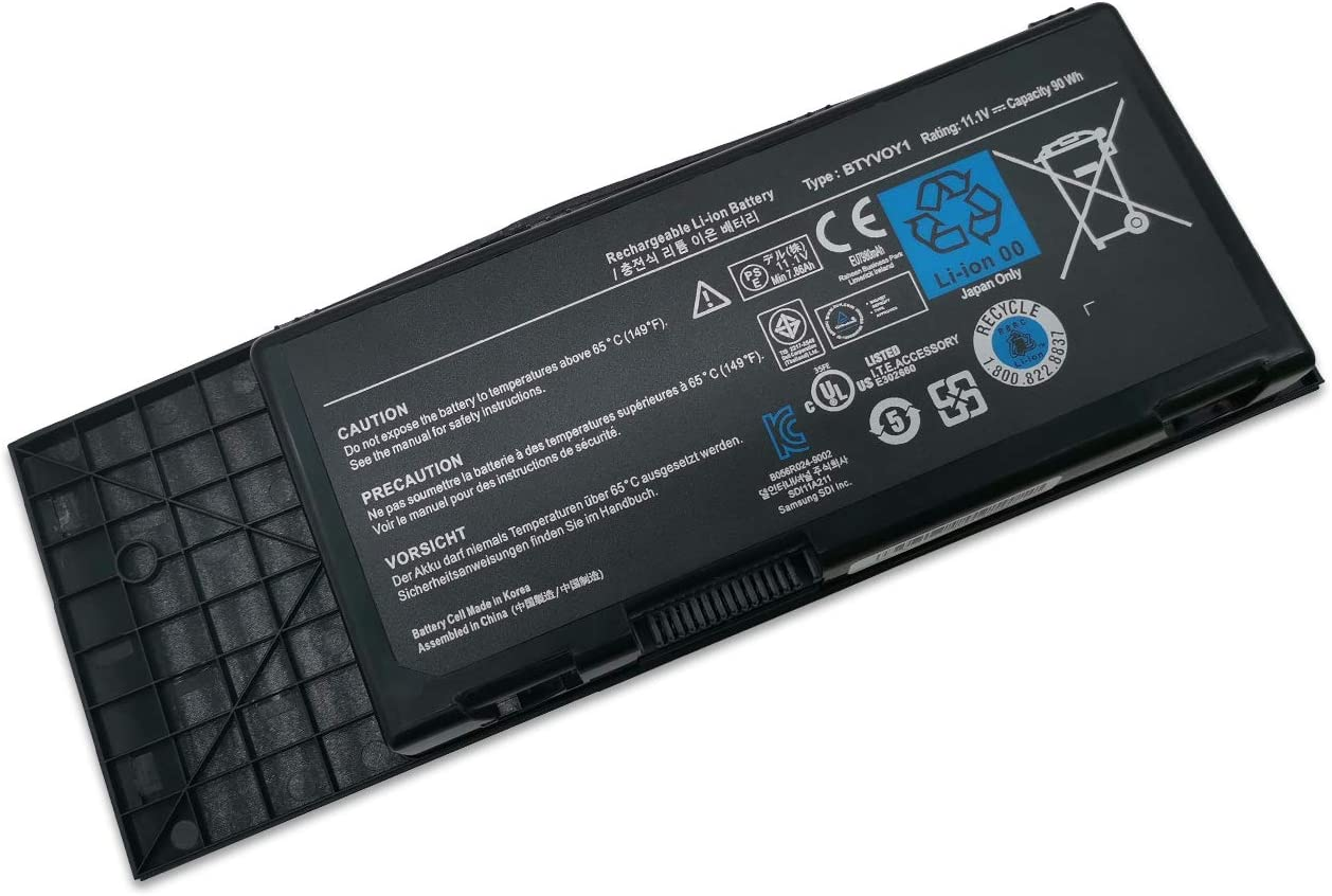 New 11.1V 90Wh BTYVOY1 Battery Compatible with Dell Alienware M17X R3 R4 C0C5M 0C0C5M 318-0397 7XC9N 05WP5W 5WP5W Laptop