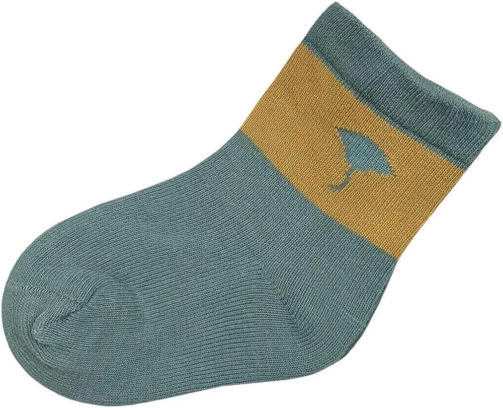 SERISIMPLE Toddler Sock Girl Boy Cotton Socks Cute Cotton Socks Baby Pattern Soft Comfy Ankle Socks 10 Pairs