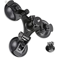 FITYLE Suction Cup Mount Tripod with 1/4 Threaded for GoPro Hero Action DSLR Camera