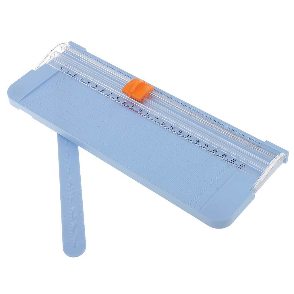 MagiDeal Carta Trimmer Taglierine A5 Formato In Plastica Carta Scrapbook - Blu