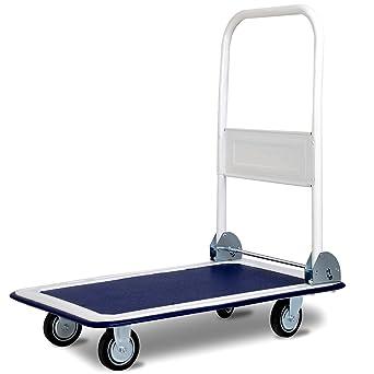 Plataforma carrito con ruedas Handewagen carrito de transporte carretilla plegable coche 150 kg azul
