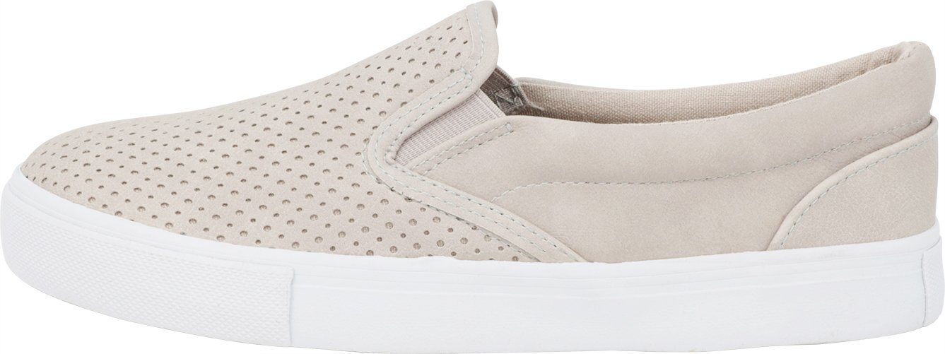 Cambridge Select Women's Perforated Slip-On Closed Round Toe Perforated Women's Laser Cutout White Sole Flatform Fashion Sneaker B07BWN6KB3 8.5 B(M) US Clay Nbpu 82a036