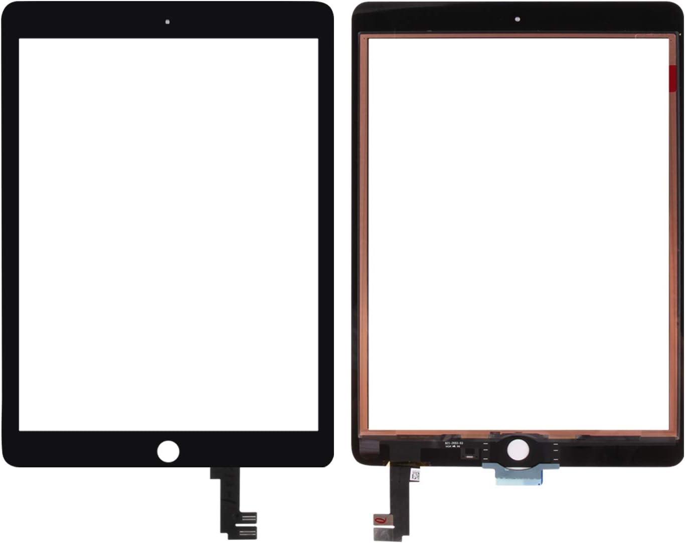 SRJTEK Remplacement D/écran pour Les Kits Dassemblage De Verre pour Le Num/ériseur D/écran Tactile A1566 A1567 pour Ipad Air 2 /écran Non LCD Black
