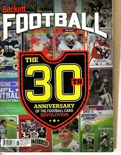 Cover Beckett Football (BECKETT FOOTBALL PRICE GUIDE-JUNE 2019 30TH ANNIVERSARY COVER-341-PAPERBACK-32-6)