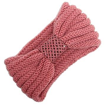 Amazon.com : Knitting Turban Elastic Headband for Women Handmade Winter Keep Warm Hairband Sunmoot : Beauty