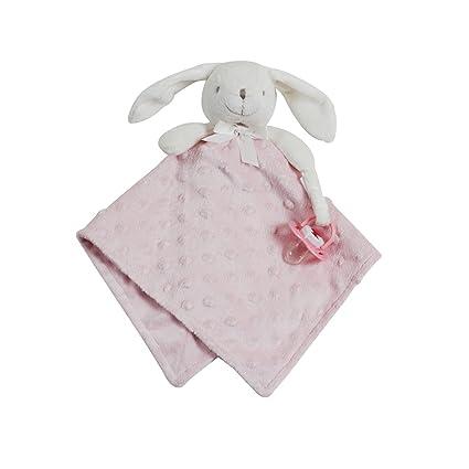guisantes Doudou oso bebé Rey 3D con conejo chupete - rosa ...