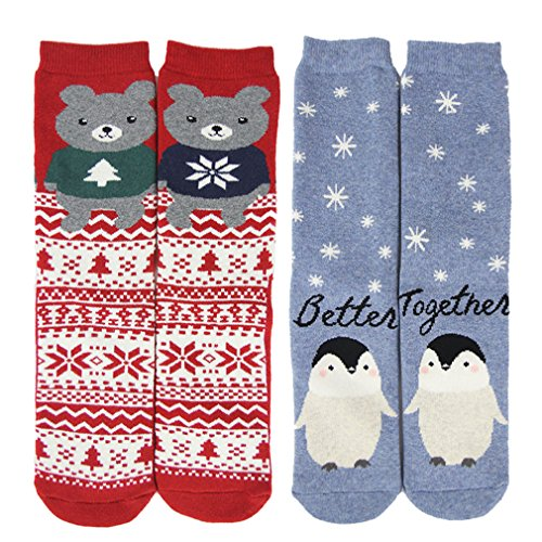 Cartoon Socks, Gmall New Year Christmas Valentine's Day Gift Holiday Casual Cotton Cute Pattern Colorful Crew Socks (Cartoon Pattern Casual)