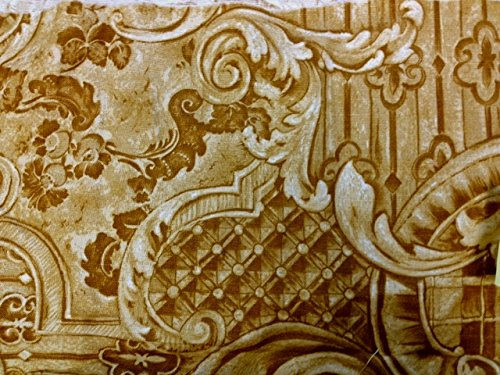 "39""x74"" Printed Twin Size Futon Mattress Cover-Herishef Tan/Brown100% Cotton/ Made of Heavy Duty Italian Fabric/Made in USA"