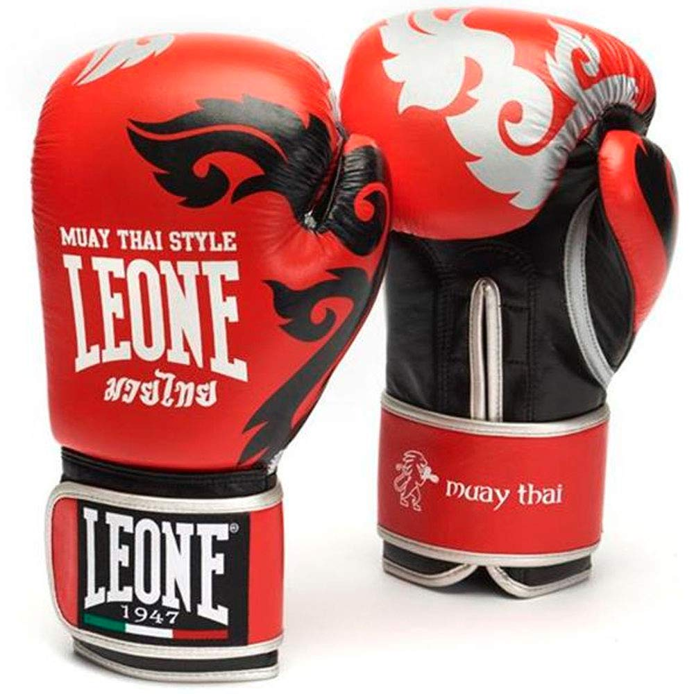 Leoneタイ式ボクシンググローブ レッド 14 Oz