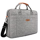 E-Tree 15-15.6 inch Laptop and Tablet Bag, Shoulder Bag, Travel Briefcase, Messenger Bag, Shock & Water Proof Sleeve Briefcase for Macbooks/Ultrabooks/Chromebooks/Notebooks with Handle & Carrying Shoulder Strap - Grey