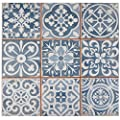 "SomerTile FPEFAEA Romania Ceramic Floor and Wall Tile, 13"" x 13"", Blue from SomerTile"