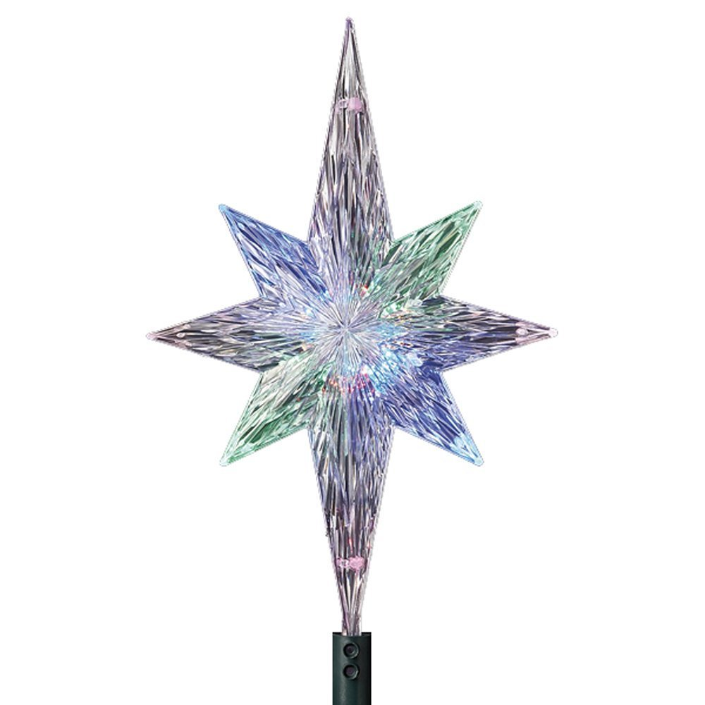 KSA 11'' Lighted LED Color Changing Star Christmas Tree Topper - Multi Lights