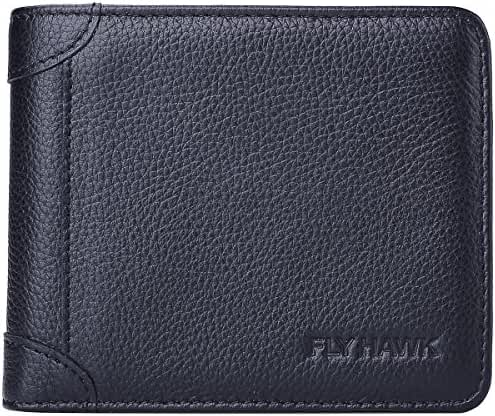 RFID Blocking Italian Genuine Leather Wallet for Mens Bifold Wallets
