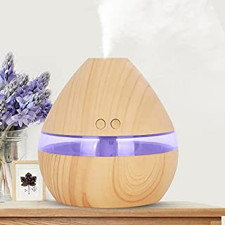 AMA(TM) Air Aroma Essential Oil Diffuser LED Ultrasonic Aroma Aromatherapy Humidifier for Babyroom Bedroom Office Spa Yoga (Yellow)