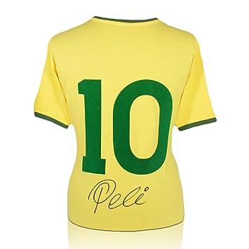 exclusivememorabilia.com Camiseta de fútbol número diez de Brasil firmada por Pelé