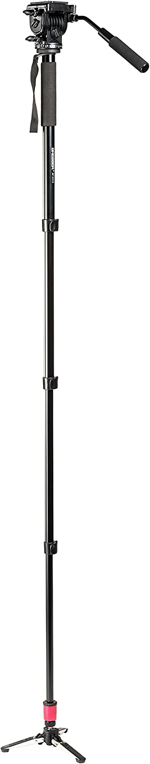 Bresser F002019 MP-274VH Traveler Monopod with Stand Black