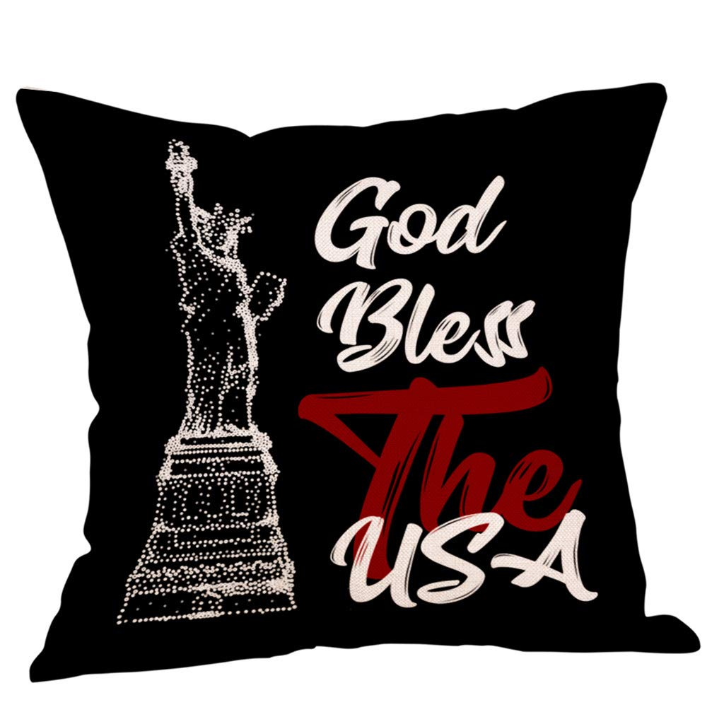 Amazon.com: ANJUNIE 1Pcs Decor Cushion Cover Independence ...